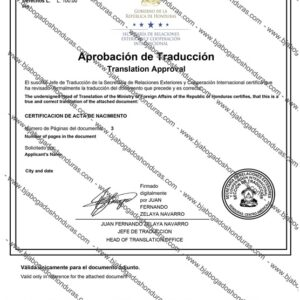 Traducción de Documentos Honduras