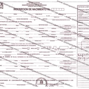 Copia de Folio de Nacimiento - Copia de Inscripción de Nacimiento Honduras